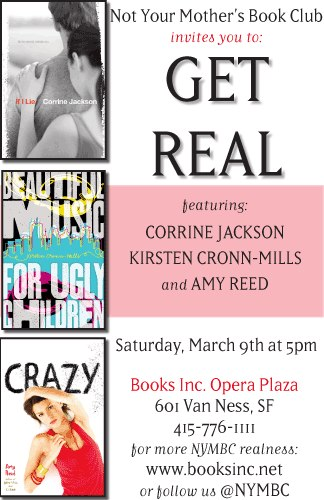March 9th! Get Real with Contemporary YA authors Amy Reed, Corrine Jackson, and Kirstin Cronn-Mills
